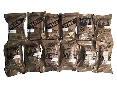 08/2021Inspection 08/2018 Pack MILITARY MRE NEW INDIVUAL MRE  MEALS READY TO EAT
