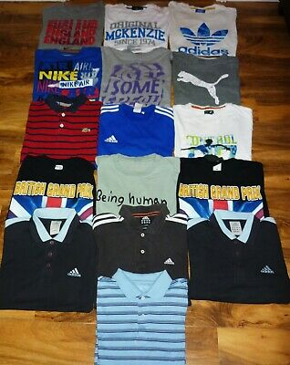 15+ Vintage Job Lot Branded T Shirts/Polo Tops - Adidas Puma Nike - Grade A
