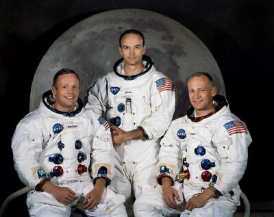 Apollo 11 Crew PHOTO First Moon Mission Landing Neil Armstrong Buzz Aldrin 8x10