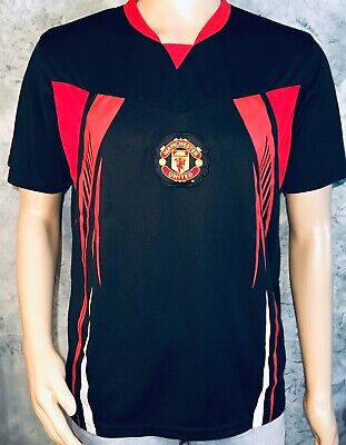 3072f2387f9 Official MANCHESTER UNITED FC Soccer England Red Devils FOOTBALL M JERSEY  TShirt