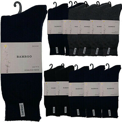 12 Pairs PREMIUM BAMBOO SOCKS Men's Heavy Duty Thick Work Socks BULK Cushion
