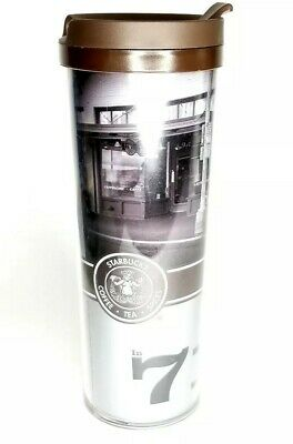 Starbucks Tumbler 16 oz plastic Travel Mug with Lid-Pike Place First Store 1971