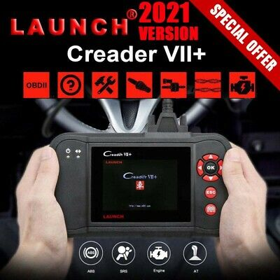 Launch Creader VII+ 7+ Auto OBD2 Diagnosegerät Scanner Codeleser ABS SRS CRP123