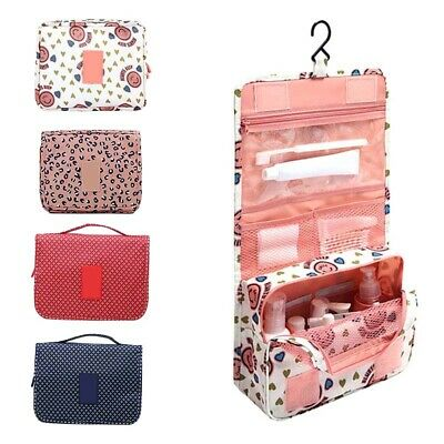 b9d27ae8c5cd 2PCS CARRY ON Travel Toiletry Bag Zippered Luggage Cosmetic Makeup ...