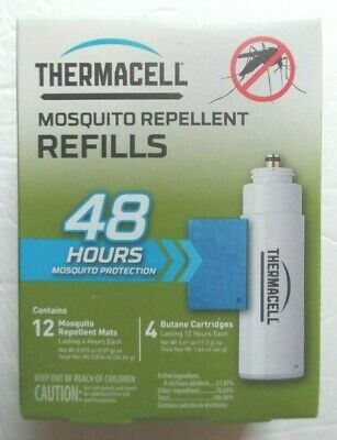 Thermacell R-4  Mosquito Repellent Refills Value Pack 4 Cartridges 12 Mats