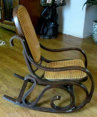 Vintage Child's Cane Brentwood Rocking Chair