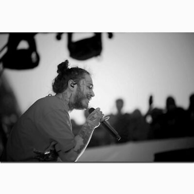 Z-1191 Post Malone Rapper Hip Hop Music Singer Star Stage Poster Wall Art Decor