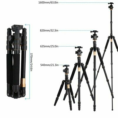 ZOMEI Q666 Aluminium Travel Tripod Monopod Ball Head for Canon Nikon SLR US MX