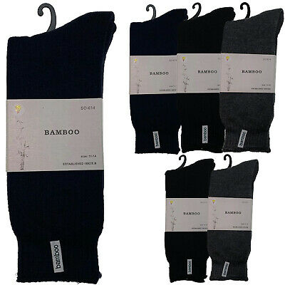 6 Pairs PREMIUM BAMBOO SOCKS Men's Heavy Duty Thick Work Socks BULK Cushion