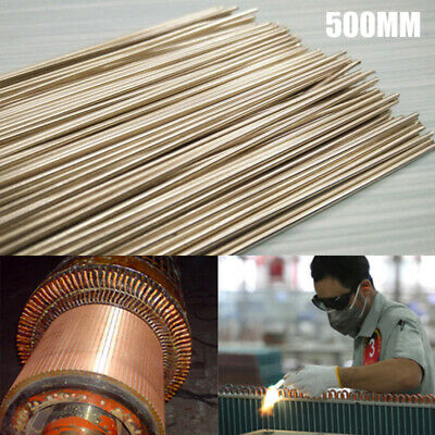 1.5X500MM Solder Rod 56% Silver Welding Rods Wire Flux Brazing Low Temperature