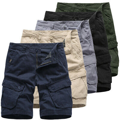 UK Men's Army Combat Cargo Shorts Tactical Military Work Trousers Shorts Pants