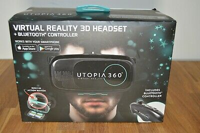 Brand New Sealed Utopia 360° Virtual Reality Headset w/ Bluetooth Controller