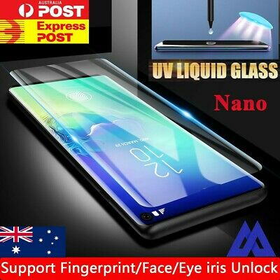 Galaxy S10/Plus S9 Note9 10 Liquid Screen Protector Full UV Glue Tempered Glass