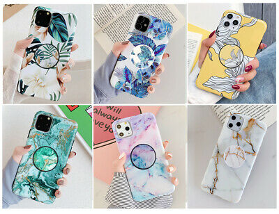 MultiColor Marble Stand Holder Soft Case Cover F iPhone 11 Pro MAX 6S 7 8 X XR