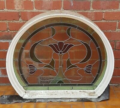 Timber Stained Glass Leadlight Window (Circular)