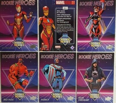2017 Upper Deck Marvel Annual Trading Card Set ROOKIE HEROES RH1 - 5