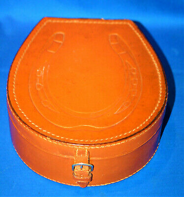 A characterful leather collar box, could be used as a jewellery or storage box