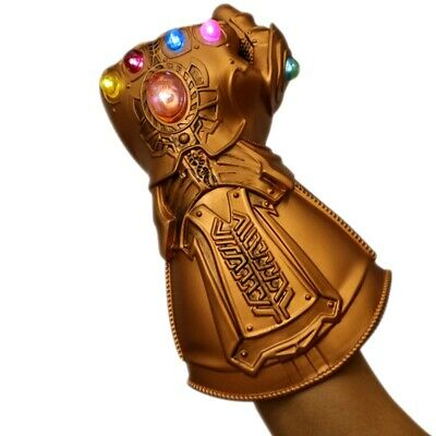 NEW  Thanos Infinity Gauntlet LED Light Gloves Kids Avengers Cosplay Costume toy
