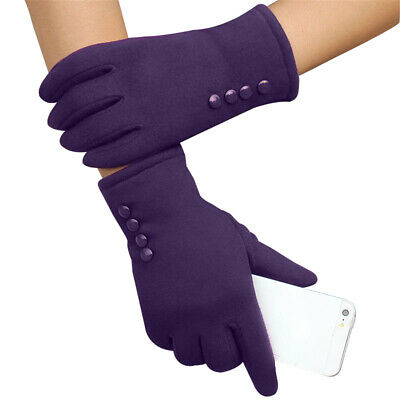 Women Lady Charming Winter Warmer Mittens Full Finger Phone Touch-screen Gloves