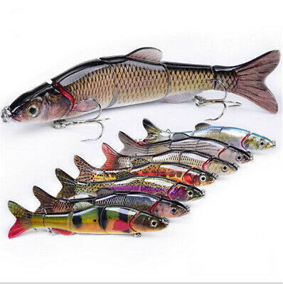 Lixada 8cm 15g 6 Segment Fishing Lure Multi Jointed Hard Bait Sinking Lure N0Y4