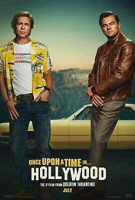 Once Upon a Time in Hollywood 2019 D/S Tape Movie Poster 24x36