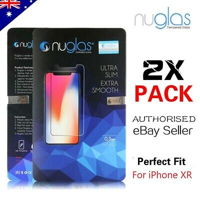 2 x GENUINE NUGLAS Tempered Glass Screen Protector For Apple iPhone XR