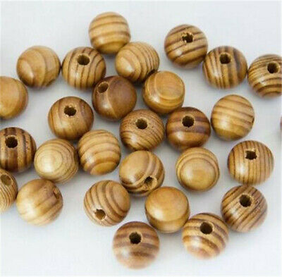 Wood Beads Charm Round Loose Spacer Bead For European Bracelet Jewelry DIY hi