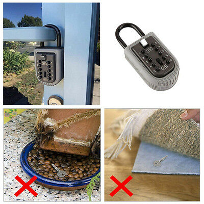 Combination Outdoor Key Safe Box Security Holder Case Lock Wall Mounted Car Home