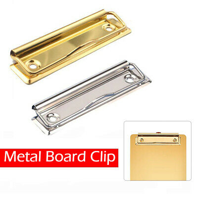 Steel Clipboard Clips 120mm With Fixing Holes And Hanger For A4 Boards New