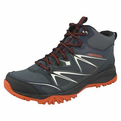 62cb9e5c0bf MENS MERRELL CAPRA Mid Gore-Tex Lace Up Leather Walking Hiking Boots ...