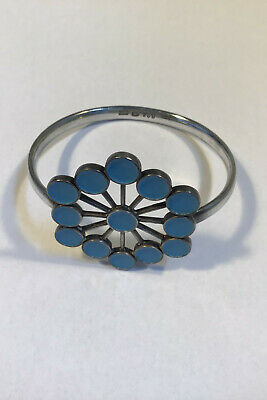 Georg Jensen Sterling Silver Arm Ring with Enamel No 238