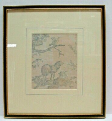 Antique Toile de Jouy J B Huet 'Four Seasons' 18th Cent, Framed (A)