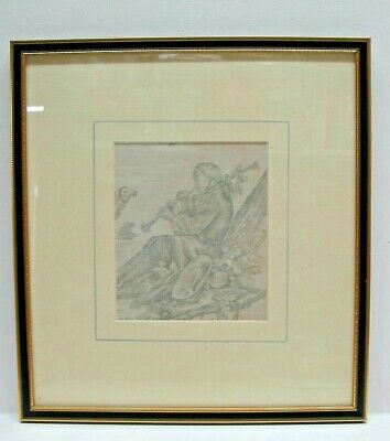 Antique Toile de Jouy J B Huet 'Four Seasons' 18th Cent, Framed (B)