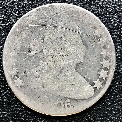 1806 Draped Bust Half Dollar 50c Circulated Rare Early Coin #16688