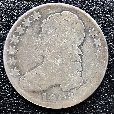 1808 Capped Bust Half Dollar  50c Circulated #16691
