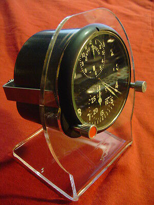 Aircraft clock stand, aviation,Su mig,russian mig,aircraft clocks,wood stands