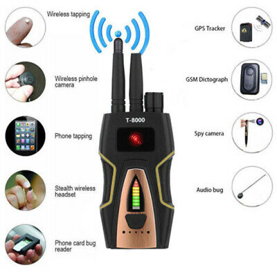 T-8000 Pro RF Spy Detector Frequency Scanner Sweeper GSM GPS Bugs Tracker T4Y1B