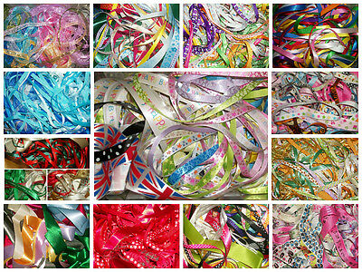 10 or 20 metres of Lace or Ribbon Off Cuts Assorted Bundle Bag Allsortscrafting