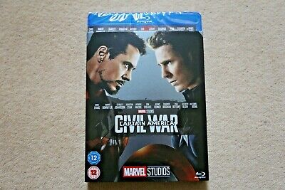 Blu-Ray Marvel Captain America Civil War  With Limited Edition Slipsleeve  New