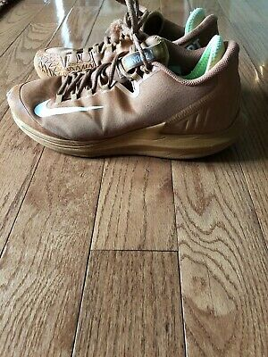 ac96f01bccd0 Nike Court Air Zoom Zero HC Men s Tennis Flax Tan Beige Volt AA8018-200 Sz