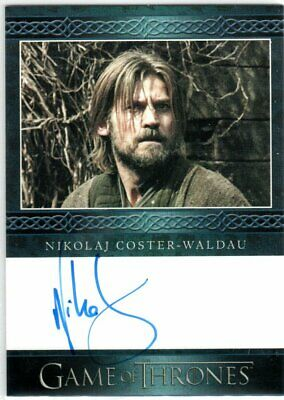 Game Of Thrones Season 3 Nikolaj Coster-Waldau Jaime Lannister Blue Autograph El