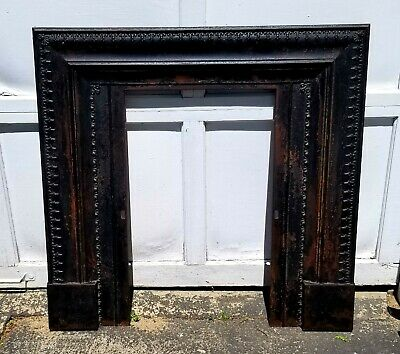 Architectural Salvaged Newport R.I. Antique Cast Iron Fireplace Surround