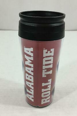 Alabama Roll Tide Contour Travel Mug 16 oz NEW Hot Cold Lidded Spell Out License