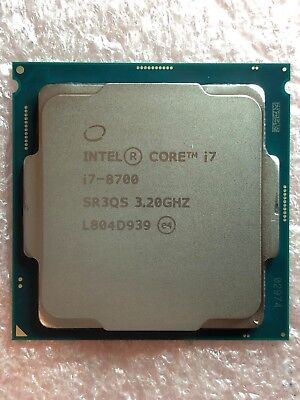 Intel Core i7-8700 SR3QS 3.20GHz 6 Core 12 Threads LGA1151 CPU Processor