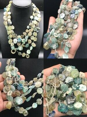 Ancient Rare 300 Bc Roman Glass Good Patina 5 Strand Best Collection#Sa34