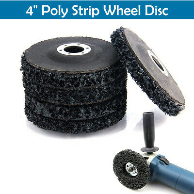 """100mm 4"""" Poly Strip Wheel Paint Rust Removal Clean Quality Angle Grinder Disc UK"""