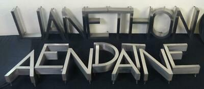 Fabulous Lot of (17) Vintage Art Deco Style Stainless Steel Channel Letters 12""