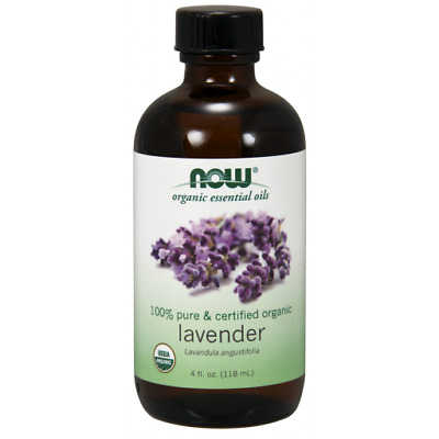 NOW Foods Organic Essential Oils Lavender Oil  4 fl oz