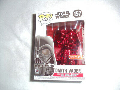 Funko POP Star Wars Target Red Card Exclusive Chrome Darth Vader #157 (Damaged)