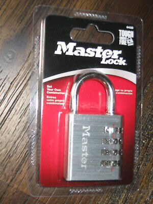 Master Lock 643D New In Package  Set Your Own Combo